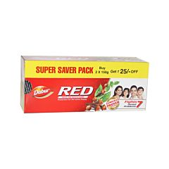 Dabur red tooth paste 150g + 150 gm / 300gms